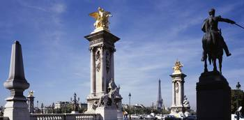 Pillars at Pont Alexandre III Paris France