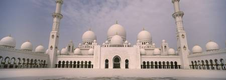 Low angle view of a mosque Sheikh Zayed Mosque Ab