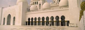 Courtyard of a mosque Sheikh Zayed Mosque Abu Dha