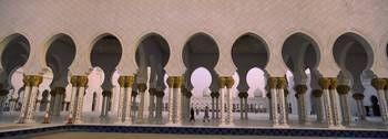 Arcade of a mosque Sheikh Zayed Mosque Abu Dhabi
