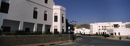 White houses at the roadside Muscat Oman