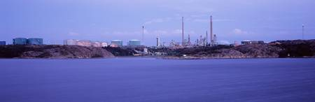 Oil refinery at the coast
