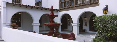 Fountain in a courtyard of a building