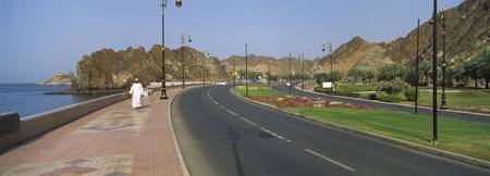 Road at the waterfront Muttrah Muscat Oman