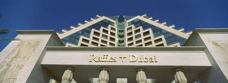 Low angle view of a hotel Raffles Dubai Dubai Uni