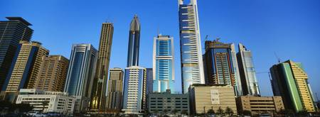 Low angle view of buildings Dubai United Arab Emi