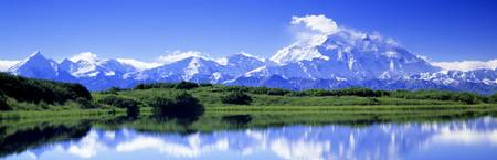Reflection Pond Mount McKinley Denali National Pa