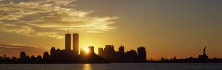 Sunrise Skyline New York City NY USA