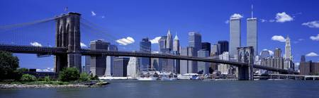 Brooklyn Bridge Skyline New York City NY