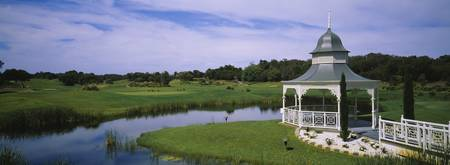 Rotunda in a golf course