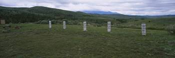 Tombstones on a hill