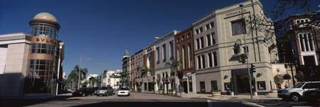 Buildings along the road Rodeo Drive Beverly Hill