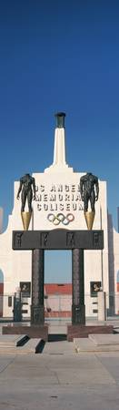 Entrance of a stadium Los Angeles Memorial Colise