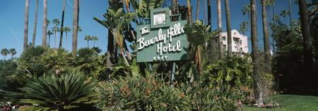 Signboard of a hotel Beverly Hills Hotel Beverly