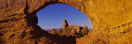 Natural arch on a landscape