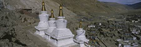High angle view of a stupa