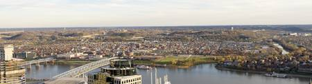 Aerial view of a city Newport Covington Kentucky