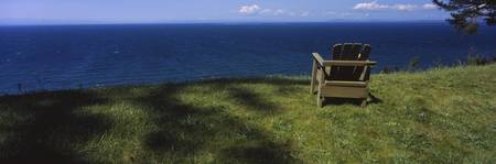 Adirondack chair near the sea