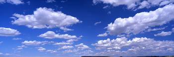 Cumulus clouds in the sky