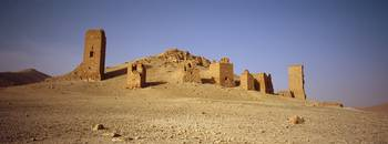 Ancient tombs on a landscape