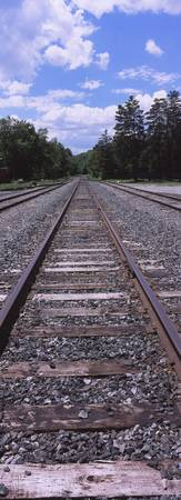 Railroad track on a landscape