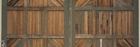 Close-up of a warehouse door