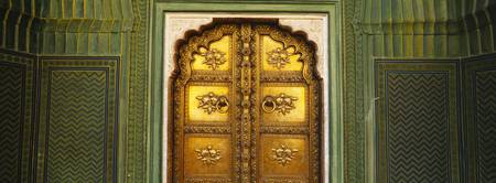 Close up of a closed door of a palace Jaipur City