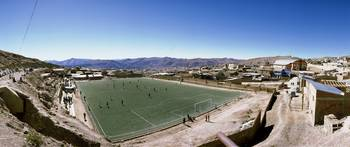 High angle view of a soccer field Potosi Tomas Fr