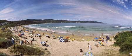 Tourists on the beach Knysna Western Cape Provinc