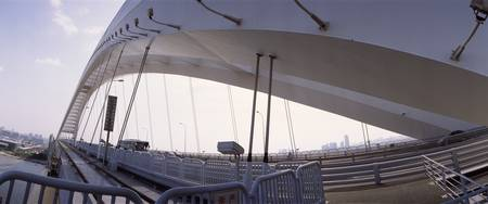 Low angle view of a bridge Lupu Bridge Shanghai C