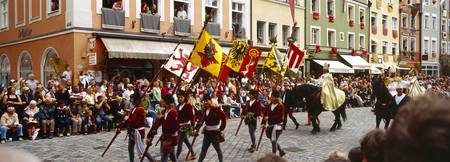 People marching in a procession Landshut Wedding