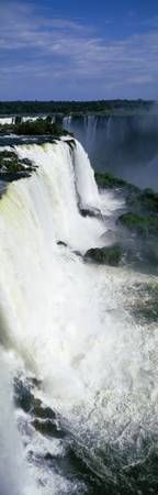 High angle view of a waterfall