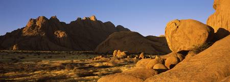 Rock formations in a desert Spitzkoppe Namib Dese