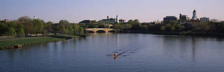 The Charles River Boston and Cambridge MA USA