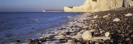 Chalk cliffs at seaside Seven sisters Birling Gap