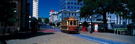 Cable Car and Cityscape Christchurch New Zealand