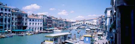 Rialto and Grand Canal Venice Italy