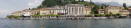 Buildings at the waterfront Lake Como Bellagio Co