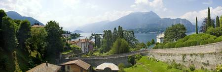 Houses in a town Villa Melzi Lake Como Bellagio C