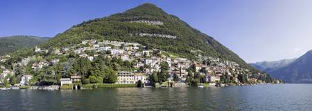 Town at the waterfront Carate Urio Lake Como Como