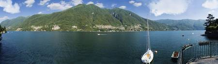 Sailboat in a lake Lake Como Como Lombardy Italy