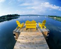 Adirondack Chairs on Dock Nova Scotia Canada