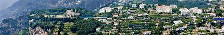 Town on a hill Ravello Amalfi Coast Campania Ital