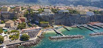 Aerial view of a town Sorrento Marina Piccola Nap