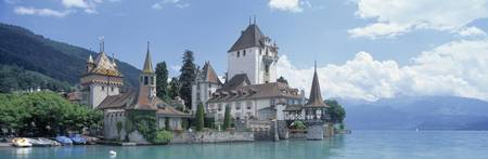 Oberhofen Castle Lake Thuner Switzerland