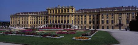 Formal garden in front of a palace