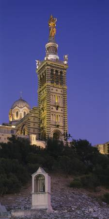 Low angle view of a tower of a church