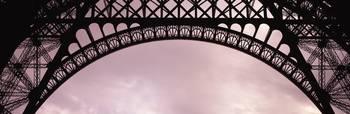 Close Up Eiffel Tower Paris France