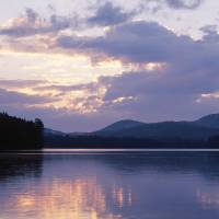 """Sunset Rollins Pond Adirondack Mountains NY"" by Panoramic_Images"