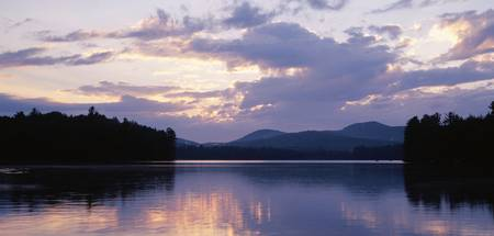 Sunset Rollins Pond Adirondack Mountains NY